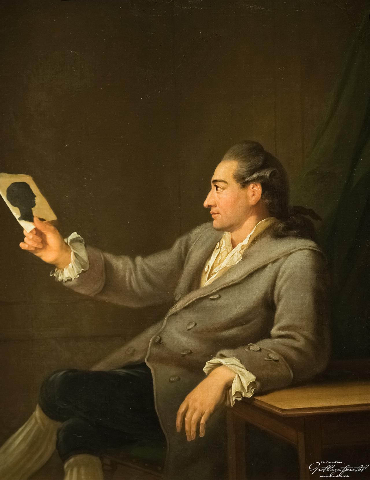 Georg Melchior Kraus: Johann Wolfgang Goethe 1775/76, Öl auf Leinwand, Klassik Stiftung Weimar